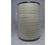Cadarço 100% Algodão - 10 mm - Chato  Ref. N 7 S/C - Cru - 100 mts
