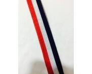 Cadarço 25 mm TRI - Vermelho / Branco / Marinho - 50 metros