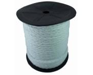 Cadarço 100% Algodão - 10 mm - Chato Ref. 16 - Branco - 50 mts