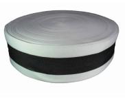 Fita Poliéster Ref. F 710 - 60 mm - Branco/Preto - Rolo 100 metros